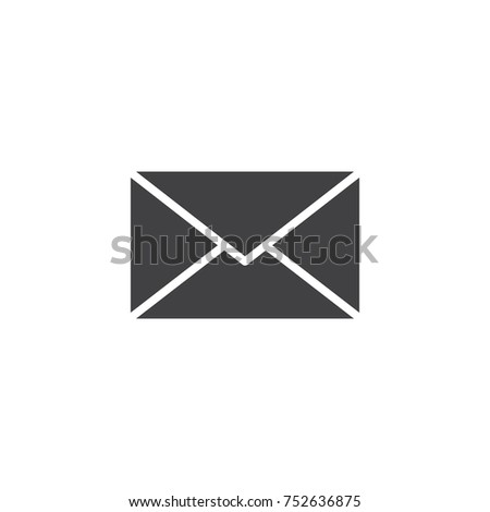 Envelope icon vector, filled flat sign, solid pictogram isolated on white. Message, mail symbol, logo illustration.