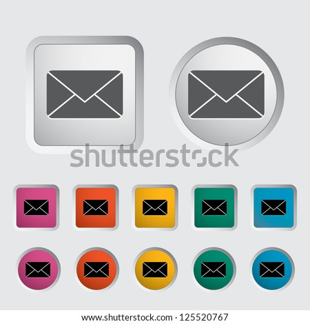 Envelope icon. Vector illustration.
