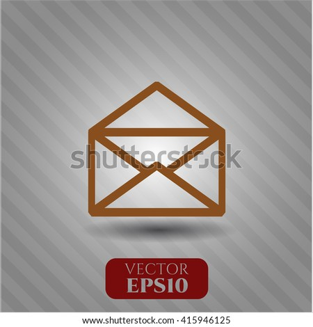 envelope icon vector symbol flat eps jpg app web concept website