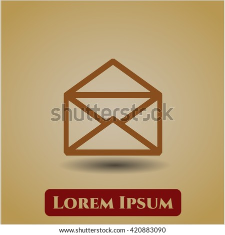 Envelope icon vector symbol flat eps jpg app web concept website