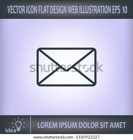 Envelope, letter, email, vector image.