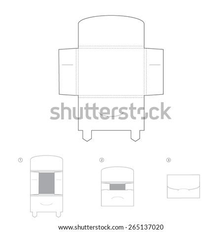 Envelope template design. Foto d'archivio ©