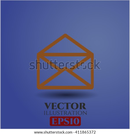 Envelope vector icon or symbol