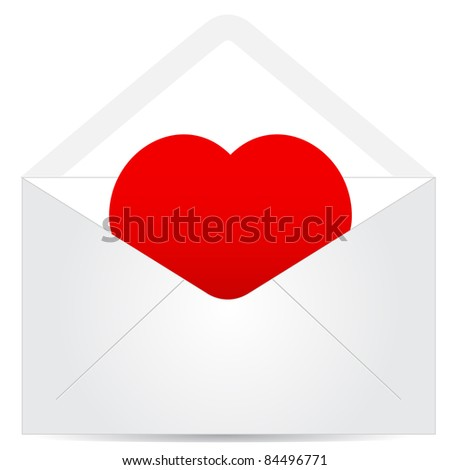 envelope with red heart