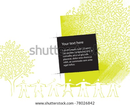 environment friendly motive, background, grunge vector