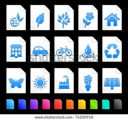 Environment Icon on Document Icon Collection Original Illustration
