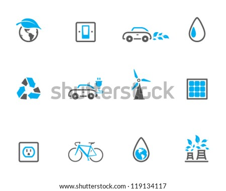 Environment  icon series in duo tone color style