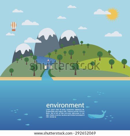 environment info graphic vector