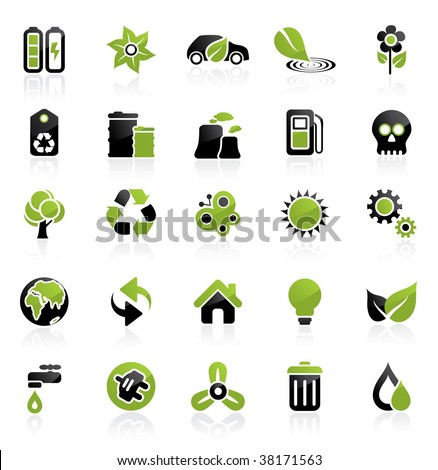 Environment vector icon set. Easy to edit. Ecology collection.