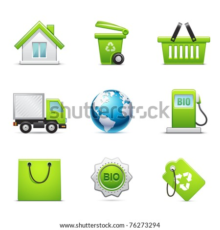 Environmental icon set