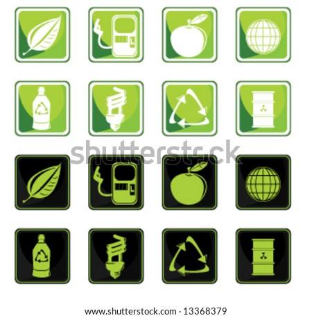 Environmental icon set - vector version