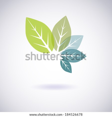 Environmental leaves icon. Vector eco icon