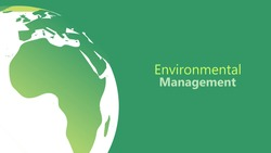 environmental management concept. Sliced earth globe map with green backround and custom text placement for go green and eco friendly web page, poster and presentation vector illustration