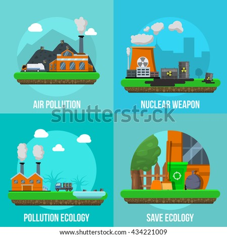 environmental pollution colored