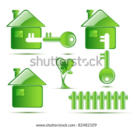Environmental protection real estate icon