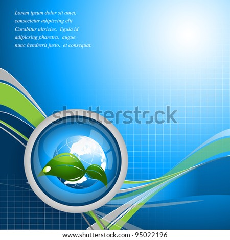 environmental vector concept background with globe. Eps10 - stock vector