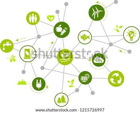 environmentally friendly technology / environmental challenges vector