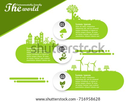 Environmentally friendly world and ecology  concept of infographic  design
