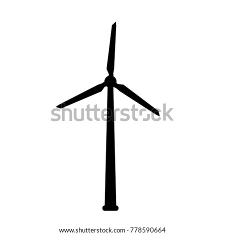 Eolic turbine icon isolated on background. Vector stock.