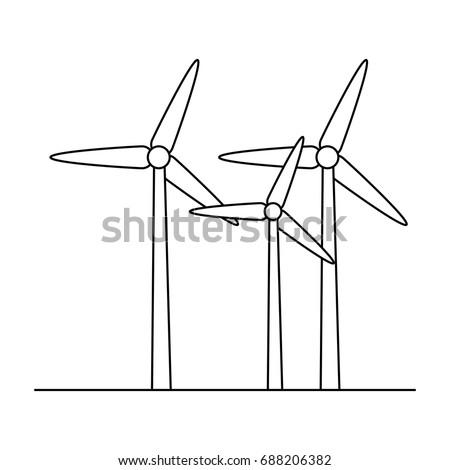 eolic turbines icon