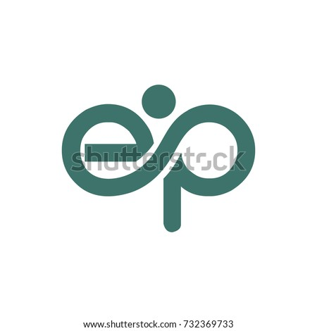 EP logo initial letter design template vector