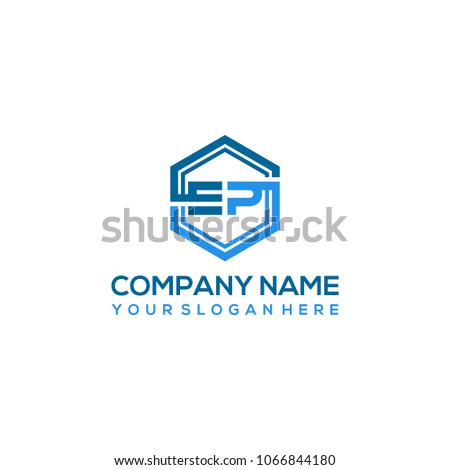 EP logo letter initial, Abstract polygonal Background Logo,