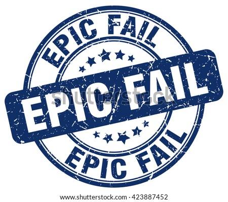 epic fail blue grunge round