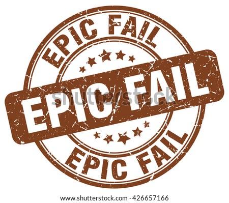 epic fail brown grunge round
