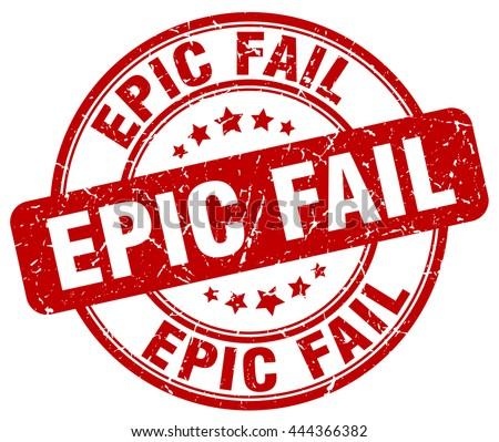 epic fail red grunge round