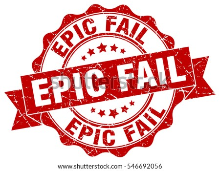 epic fail stamp sticker seal