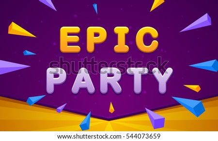 epic party banner triangle