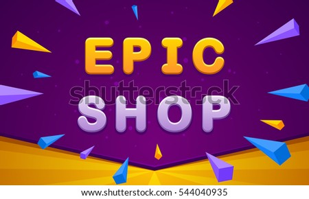 epic shop banner triangle