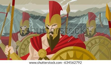 epic spartans soldiers