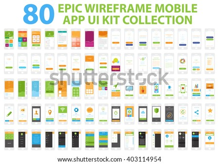 epic wireframe mobile app ui