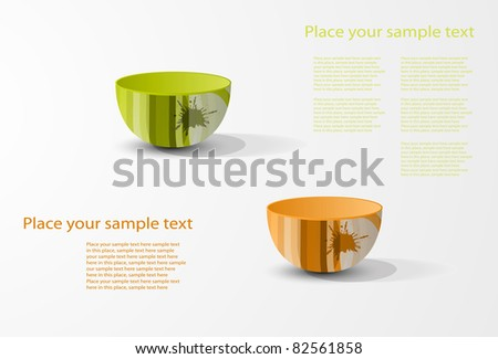 eps10 abstract colored tableware