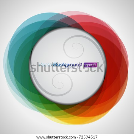 EPS10 Abstract Colorful Background Vector