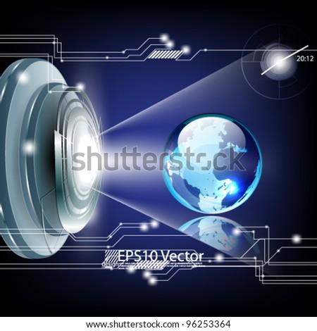 eps10 abstract futuristic globe concept design