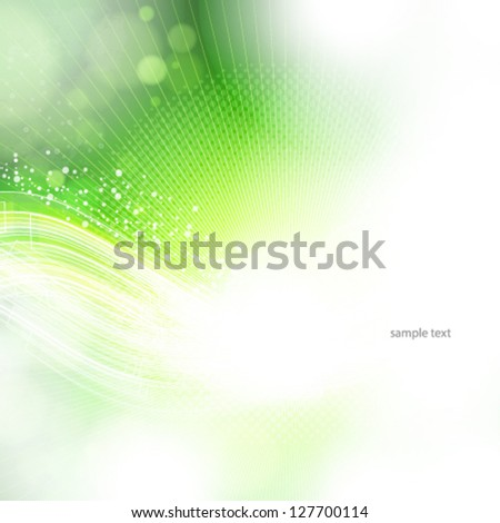 Eps10 abstract green and light background.