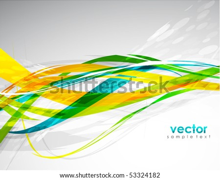 eps10. Abstract lines. Vector background