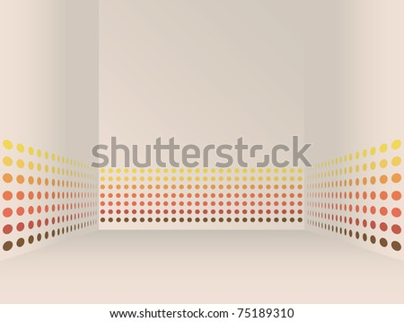 EPS10 abstract room background with stripes on walls