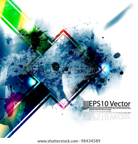 eps10 abstract splatter background