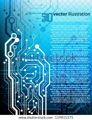 eps10 abstract vector design - futuristic circuit board concept