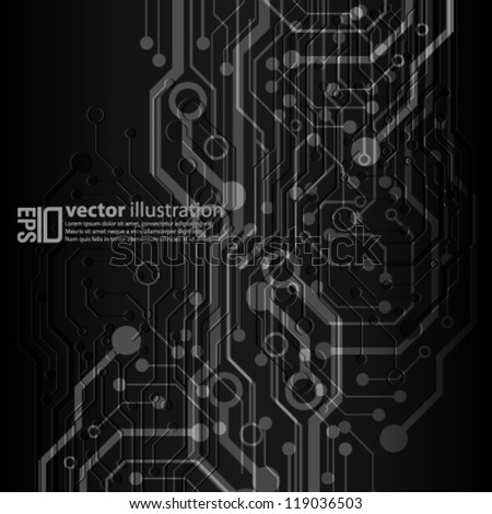 eps10 abstract vector design - futuristic circuit board concept on isolated background