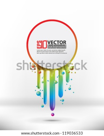 eps10 abstract vector design - multicolor paint with circle on isolated background