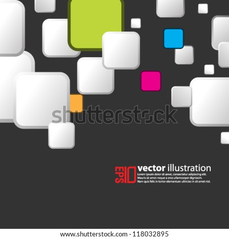 eps10 abstract vector design -  square geometric illustration on isolated background