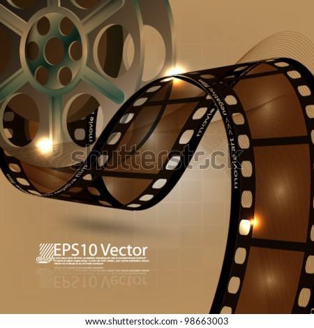 eps10 abstract vector film reel concept design