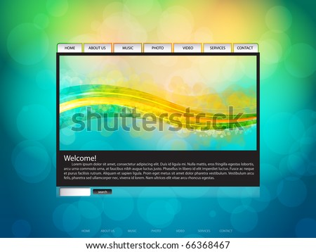 EPS10 Abstract Website Layout Vector Background - stock vector