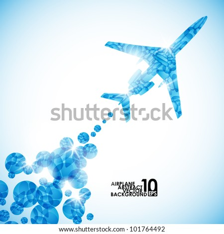 eps10, airplane, vector abstract background