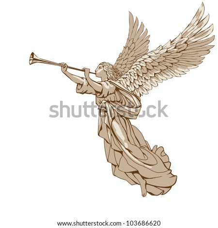 eps 8  angel with trumpet   in
