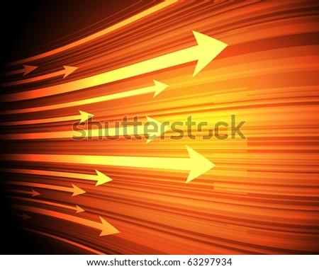 EPS10 Arrow Design Vector Background - stock vector